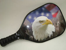 NEW HOT PICKLEBALL PADDLE BALD EAGLE & USA FLAG PICKLEPADDLE T200