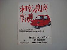 advertising Pubblicità 1981 MOTORI FRANCO MORINI e AUTOMIRAGE