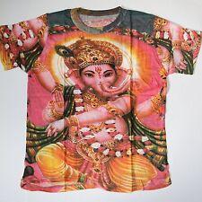 Camiseta Ganesh algodón Ganesha Goa India Hippie Psy Trance M L Free talla 2