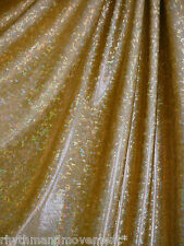Dance Costume Lycra Fabric Shattered Glass Gold 50cm - 150cm wide