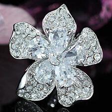 Jumbo Queen Flower Ring use Swarovski Crystal SR120