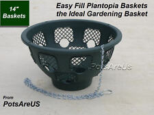 "4 X 14"" EASY FILL HANGING BASKETS (GREEN)HANGING BASKET"