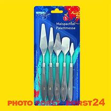 Malspachtel 5tlg Spachtel Malmesser Farbspachtel Künstlerspachtel Palettenmesser
