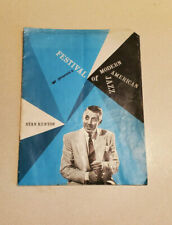 Festival Of Modern American Jazz w/ Stan Kenton & Other's Autographed Program