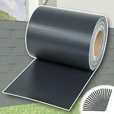 PVC Sichtschutz Streifen Sichtschutzfolie Doppelstabmatten Zaun 70m anthrazit