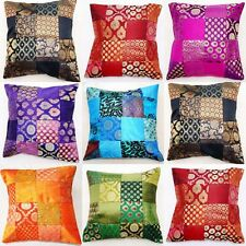 Indian Sari Patchwork Cushion Covers