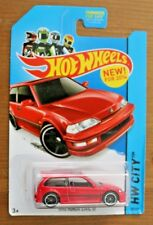 Hot Wheels 1990 Honda Civic EF HW City Red