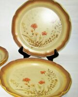 Set of 2 Mikasa Whole Wheat Jardiniere Dinner Plates Mint Condition Peach Flower