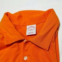 BROOKS BROTHER 346 GOLF POLO SHIRT Orange short sleeve, size Large L
