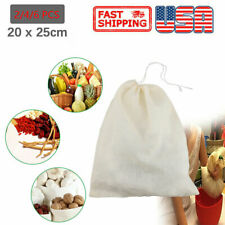 2/4/6PCS Organic Cotton Nut Bag Reusable Food Strainer Brew Coffee Cheese Cloth