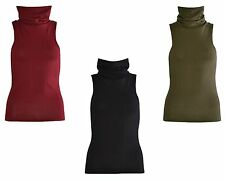 Polyester Cowl Neck Stretch Tops & Shirts for Women
