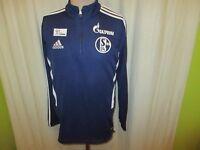 "FC Schalke 04 Adidas Spieler Training Zipper/Jacke 2013/14 ""Gazprom"" Gr.M TOP"