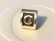 Authentic Pandora Charm Alphabet Initial Letter C 790323 retired
