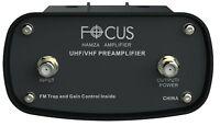 Focus Antennas HAMZA Booster-1515HD Adjustable Gain TV Antenna Pre-Amplifier VHF