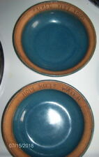 """Set Of Two 5.5"""" Cat Bowls ~ Holy Kitty Water & Sacred Kitty Food ~ Vintage Potte"""
