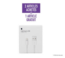 Cable Chargeur Iphone Original 1M Apple USB 5/5C/5S/6/6S/7/8/X/XR 2+1 Gratuit