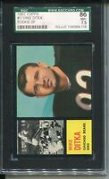 1962 Topps Football #17 Mike Ditka Rookie Card RC Graded SGC Nr Mint+ 7.5 Bears