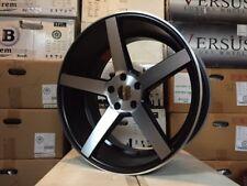 "(4) NEW SET 20"" BLACK MACHINE CV3 STYLE CONCAVE STAGGERED WHEELS RIMS 5X114.3"
