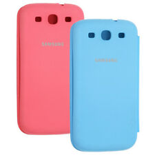 2X Pack Samsung Galaxy S III S3 Flip Cover Pink/Blue Folio Case EFC-1G6 OEM NEW!