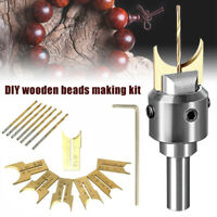 Wooden Bead Maker Beads Drill Bit Milling Cutter Woodworking Tool Kit