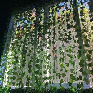 Fake Ivy Leaves, Artificial Greenery vines for decor, room wedding decor garland