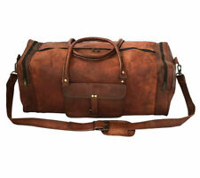 Men genuine Leather Handmade Duffel gym Traveling Bag Leather Traveling Bag