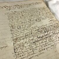 RARE Authentic Late Medieval Renaissance Manuscript - Ca. 1553 Latin - European