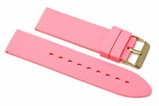 22MM PINK RUBBER SILICONE WATCH STRAP BAND FITS FOSSIL TRAVELER