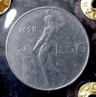 50 LIRE VULCANO 1958 RARO    ( CF 1.0 )