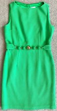 MILLY KELLY GREEN BAUBLE BELTED SHEATH DRESS $350 10