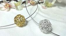 Gelbgold beschichtete runde Modeschmuck-Halsketten