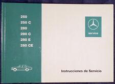 Uso Manutenzione MERCEDES W114,250,250 C,280,280  E - 280 CE