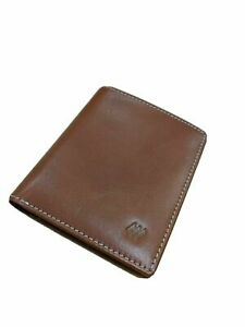 New Premium Leather Slim Wallet for Men - Brown, One Size