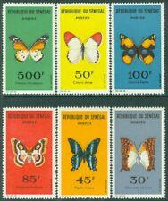 EDW1949SELL : SENEGAL 1963 Scott #221-26 Butterflies Very Fine, Mint NH Cat $33.
