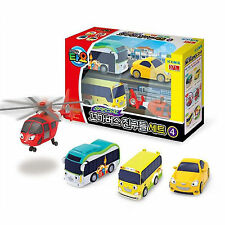 Tayo The Little Bus Friends Special Set Ⅳ (1 Helicopter, 3 Cars)