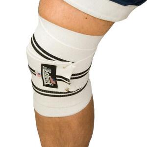"Schiek Sports Model 1178 Heavy Duty 78"" Hook and Loop Knee Wraps - White/Black"