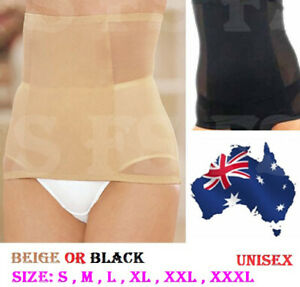 INVISIBLE SLIMMING WAIST TUMMY TRIMMER BODY SHAPER UNISEX in Nude or Black