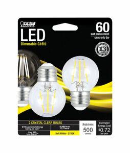 FEIT Electric 6 watts G165 LED Bulb 500 lumens Globe 60 Watt  Soft White