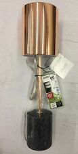 Threshold Copper Stick Lamp with Cylinder Marble Base - Free Bulb Included