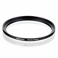 72-77mm Step-Up Metal Adapter Ring / 72mm Lens to 77mm UV CPL Filter Accessory