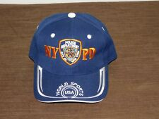 BASEBALL CAP HAT POLICE DEPARTMENT CITY OF NEW YORK NYPD WORLD SPORTS NEW UNUSED