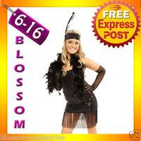 882 1920s Black Flapper Chicago Fancy Dress Gatsby Costume