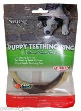 N-Bone Puppy Teething Ring Natural Chew Treat Chicken Flavor