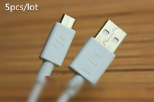 5x White/Grey 1.2M Micro USB cable for Blackberry PlayBook 9900 Q30 Q20 Q10 Z10