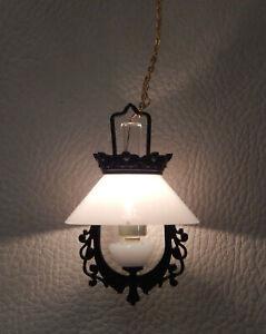 Vintage Victorian Hanging Lamp Dollhouse Miniature 1:12