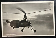 Mint Netherlands Early Aviation Real Picture Postcard Autogiro Airplane
