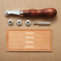 5Pcs Universal Craft Leather Overstitch Sewing Wheel Marking Spacing Punch Tool