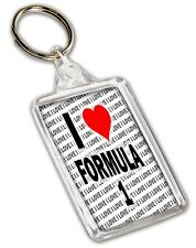 I Love Formula 1 Keyring - Gift - Birthday - Christmas - Stocking Filler