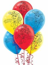 NEW PAW PATROL  BLUE,YELLOW AND RED PRINT 11 INCH LATEX BALLOONS  (6)