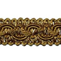 5,0 m Posamentenborte 16 mm (0,89 €/m) Bronze Bordüre Spitze Möbelborte Brokat